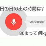 「ok google」に釣り人目線で質問しまくってみたらナカナカ便利だったという話