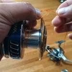 テープや下巻き要らず!リールのスプールにPEラインを滑らず結ぶ方法