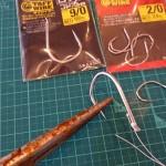 バーブレスフックの貫通性能実験 | カエシの無いフックは刺さりやすい?