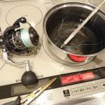 強度実験 | PEラインは熱に弱いってどんだけぇ〜? 鍋で煮てみた(笑)