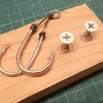 1分で簡単に作れる!アシストフック(針結び)の締め込み治具を作ってみた!