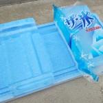 袋入りの氷は袋から出して使う?袋に入れたまま使う?どっちが溶けやすいか実験してみた!