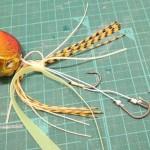 結ぶよりセキ糸で巻くのがオススメ!絡みにくい!タイラバ3本針の作り方